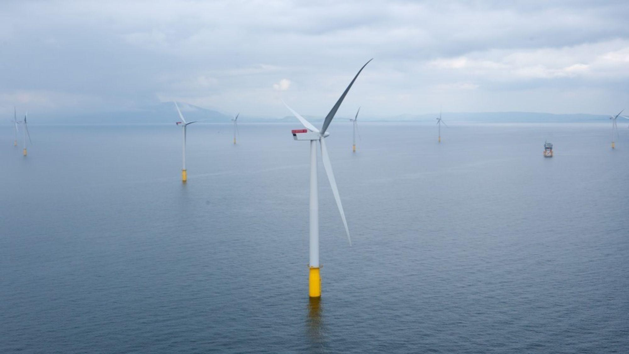 Danske Dong Energy har blitt store på vindkraft i Storbritannia. Her vindparken i Walney.