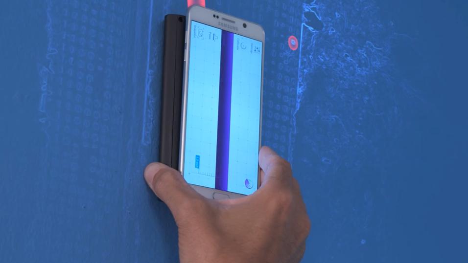 Sensoren Walabot kan se gjennom vegger.
