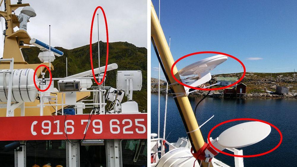 Antenner: Piskantenner eller UFO-antenner er det NRK anbefaler for de som skal ha godt mottak av digitalradio langt til havs