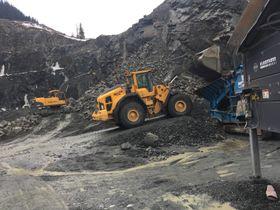 Tilkoblet pukkverk: NCC ønsker å ta i bruk deler av gruveteknologien på et pukkverk i Trondheim.