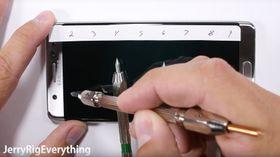Ifølge YouTube-kanalen JerryRigEverything er det lett å lage riper i skjermen til Samsung Galaxy Note 7.