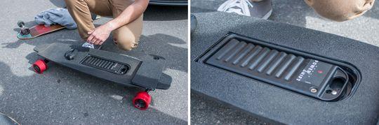 Batteriet kan byttes på kort tid, og skal være vanntett nok til å tåle regnvær med sin IP55-sertifisering.