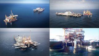 Løftet 13.000 tonn på 60 sekunder: Her fjernes Yme-plattformen