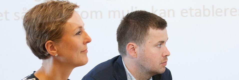 Saksordfører for den digitale agenda i Stortinget, Høyres Torill Eidsheim, her i et panel sammen med Senterpartiets Geir Pollestad under Arendalsuka tidligere i 2016.