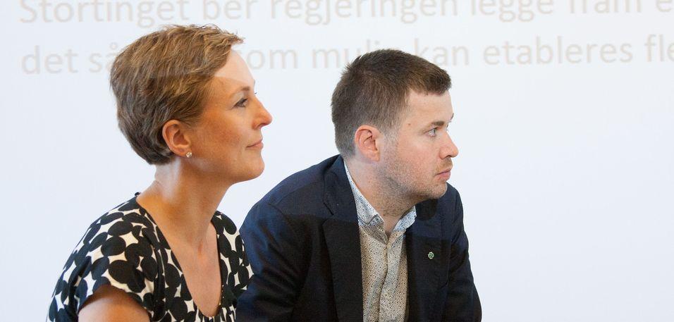Høyres Torill Eidsheim og Senterpartiets Geir Pollestad mener begge at det er flertall på Stortinget for å få til en satsing på grønne datasentre, deriblant å skaffe de fiberkablene som trengs. Fasiten kommer når revidert nasjonalbudsjett legges fram. .