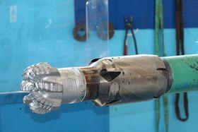 Rengjøringsverktøyet Afterburner fungerer nesten som en støvsuger i borehullet.