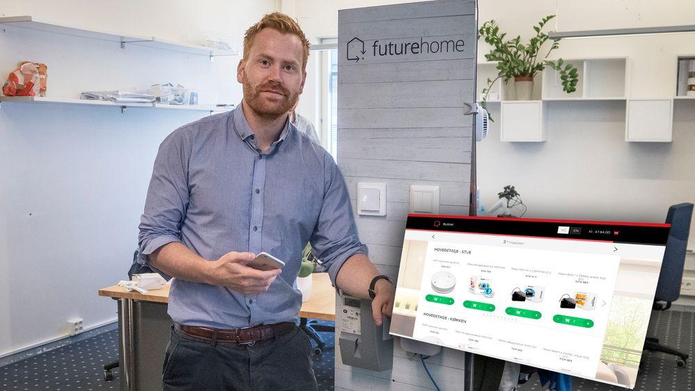 Brøyter ny mark: Erik Stokkeland, og medgründerne i Futurehome tror markedet vil vokse raskt i årene fremover.