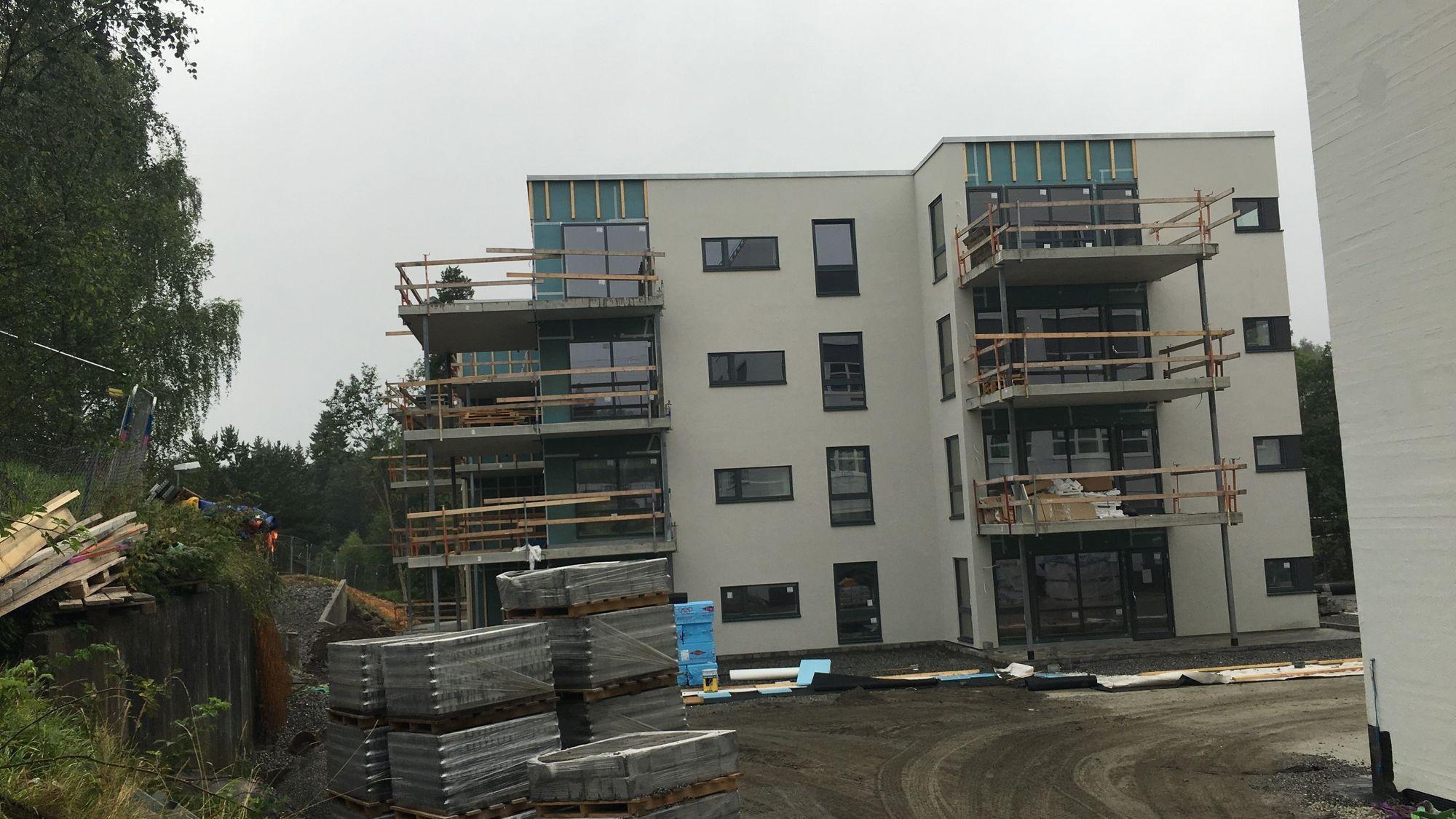 I DAG: Slik ser de nye byggene ut i dag.