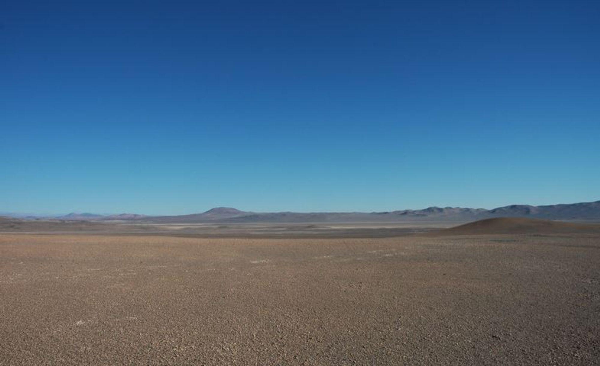 Rekordkontrakt: Atacama-ørkenen har verdens høyeste solinnstråling, og er svært godt egnet for solkraftanlegg. Nylig ble det satt prisrekord for kraftkontrakter for et anlegg som ennå ikke er bygget.