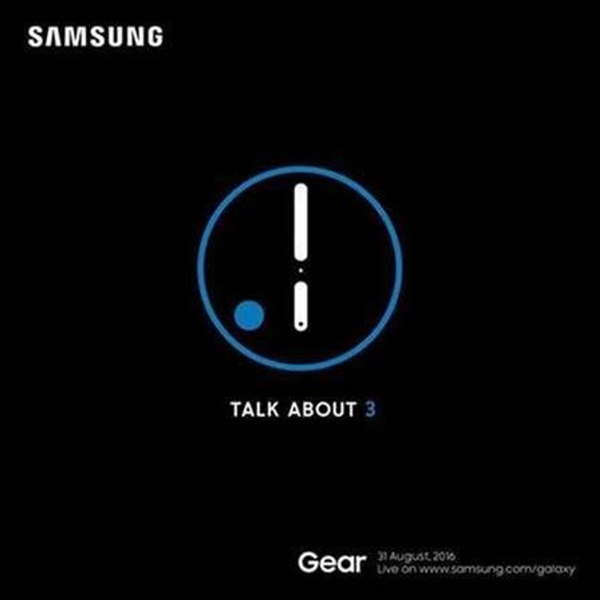 Slik ser Samsungs IFA-invitasjon ut. Her er det tilstrekelig mange hint til at vi regner med det handler om smartklokken Gear S3.