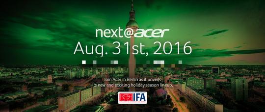 Slik ser en av Acers invitasjoner til årets IFA-messe ut.