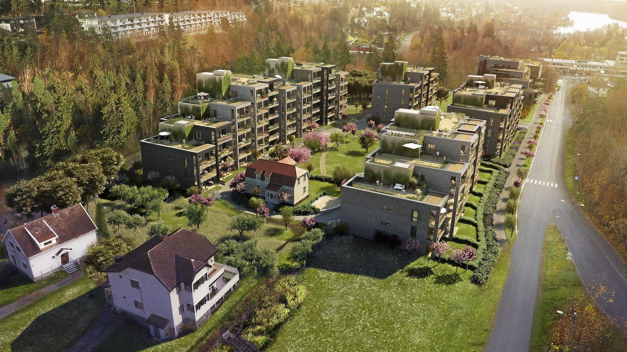 SLIK BLIR DET: Kolbotn Hage vil se slik ut når det står ferdig neste år.
