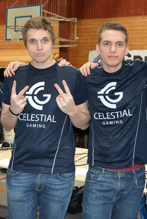 Sebastian «Boffen» Gsell og Jakob William «Jubel» Andresen i Celestial Gaming.