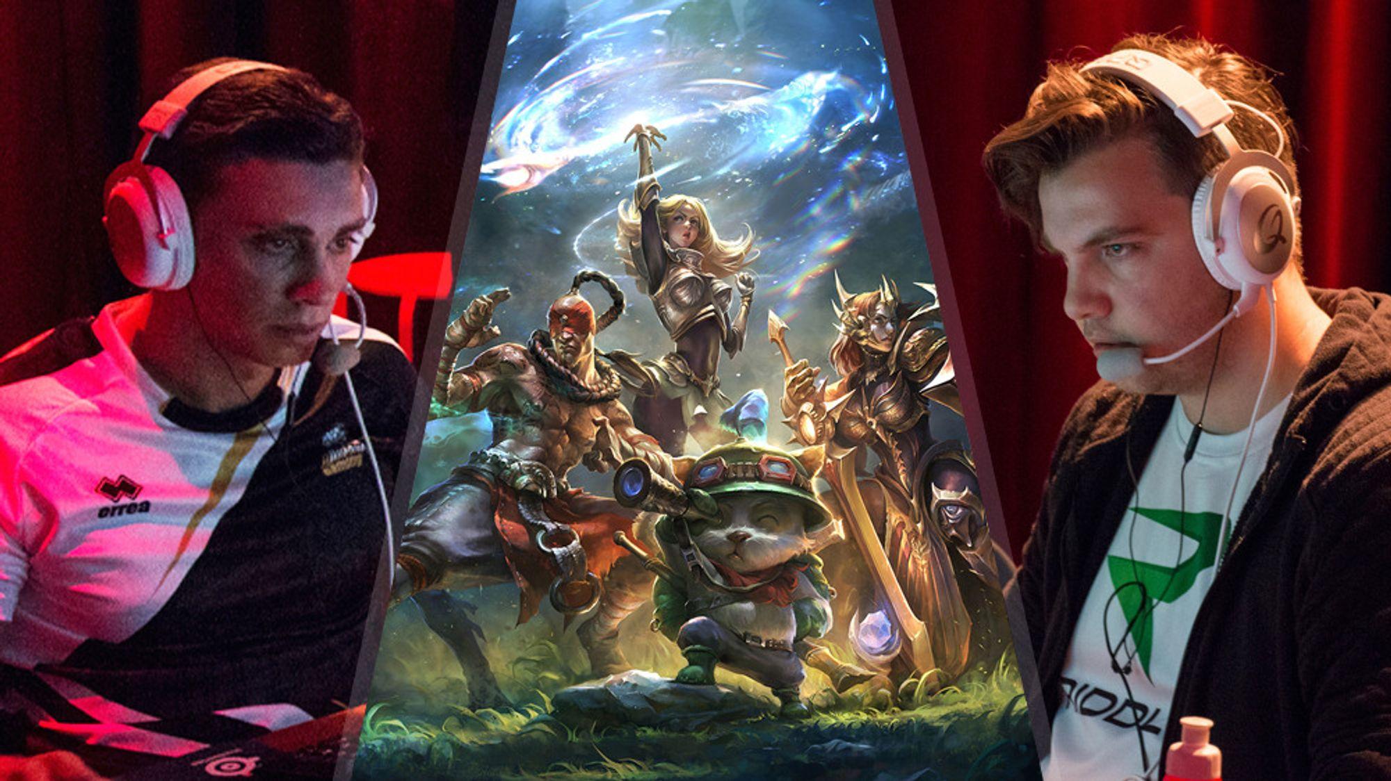 De to store favorittene: nDurance Gaming og Riddle EK – her representert av Omid «Touch» Rosander (t.v.) og Adrian «Dipzey» Kjellesvik.