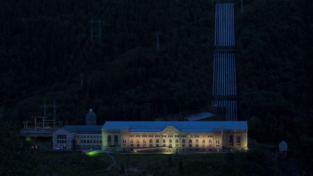Historisk sus: Bildet viser kraftstasjonen på Vemork, som leverer strøm til Green Mountains datasenter på Rjukan.