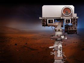 Kameraer og instrumenter på Mars 2020s mast.