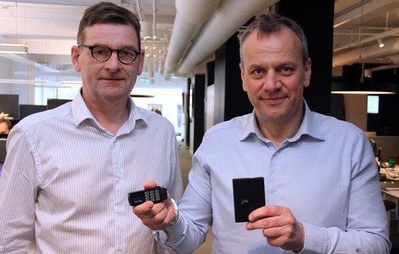 Administrerende direktør, Gudmundur Einarsson, og salgs- og markedsdirektør, Leif Sundsbø. Arkivfoto.