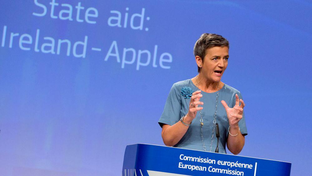 EUs konkurransekommissær Margrethe Vestager presenterte tirsdag EU-kommisjonens avgjørelse i den kontroversielle skattesaken mot Apple