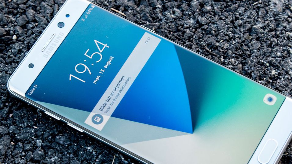 Samsung Galaxy Note 7 har batteriproblemer.