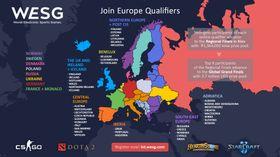 Dette er oversikten over kvalifiseringen til regionale finaler.