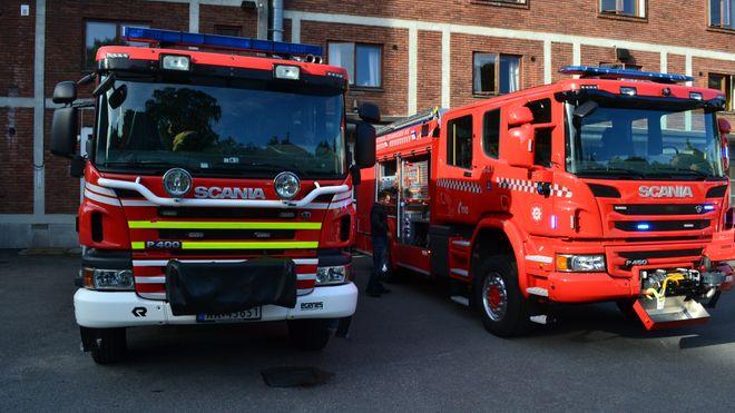 Brannbilen til høyre er alt annet enn en vanlig brannbil. I dag får Norge 37 av dem