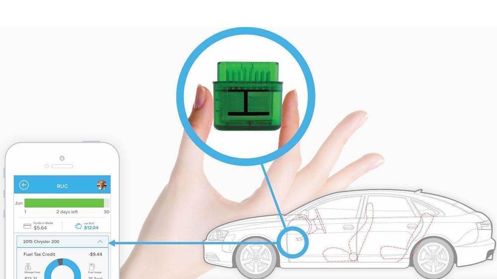 En sporingsenhet i bilen kan gjøre at bilister betaler for reell bruk. Bildet er hentet fra den amerikanske statens Oregons OreGO-prosjekt.