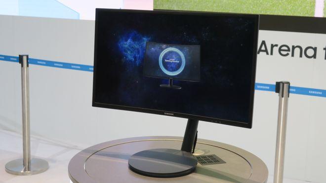 Nå lanserer Samsung en kurvet spillskjerm med kvanteprikker