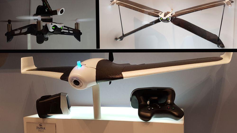 Parrot viser frem mange nye og tøffe droner