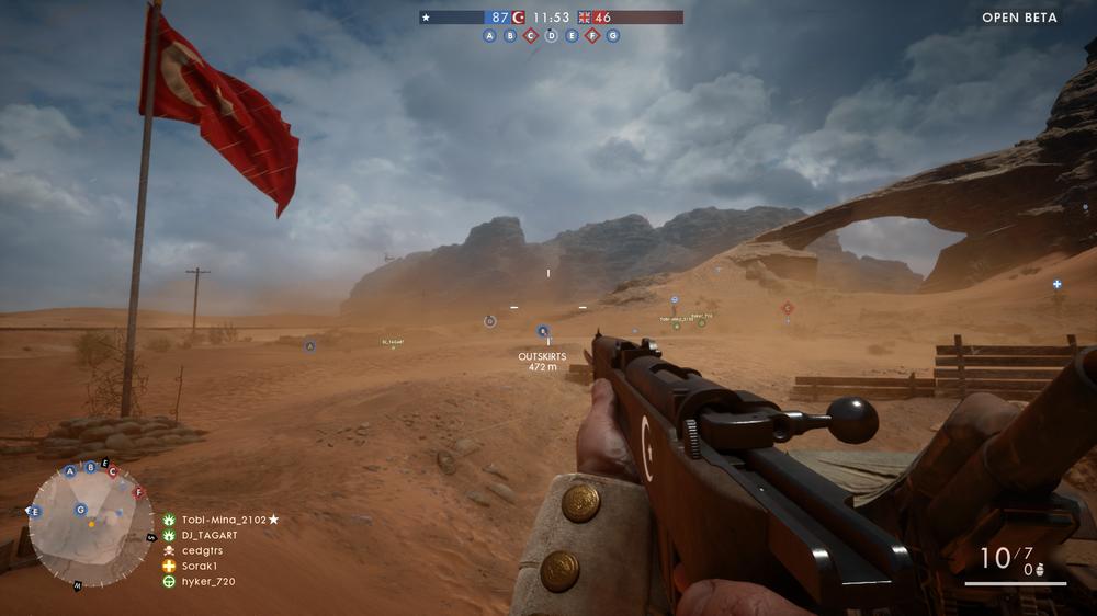 Med flagget til topps i Conquest.