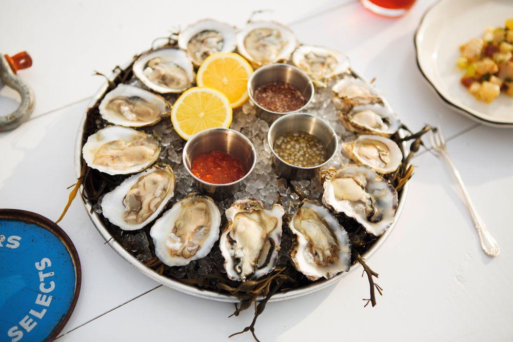 Utvalget av østers er enormt.