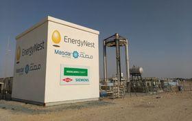 Pilot: Energynest bygget sitt første pilotanlegg ved Masdar Institutes solforskningsanlegg i Abu Dhabi, i tilknytning til et anlegg for konsentrert solkraft.