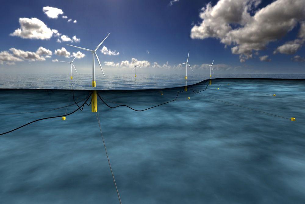 Statoil skal bygge verdens første flytende vindpark: Hywind utenfor kysten av Skottland.
