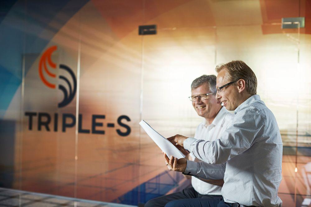 Fra venstre Flemming Graversen, forretningsutvikler for olje og gass og adminsitrerende direktør i Triple-S, Eiliv Elvebakk