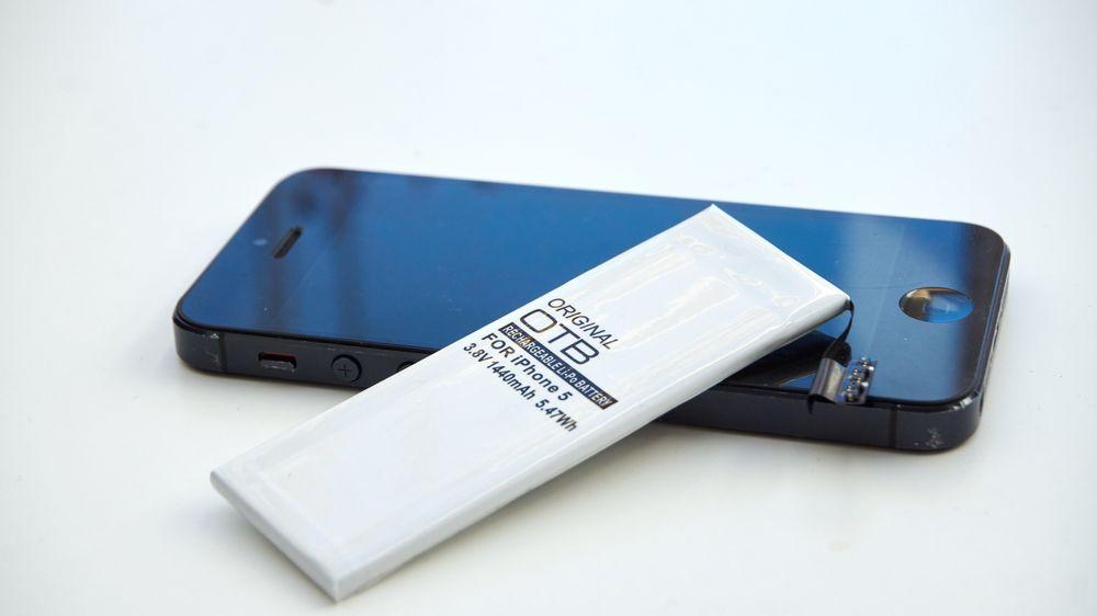 iPhone 5 og batteri fra OTB er en god kombo.