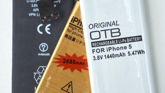 De tre nye batteriene, med oppgitt kapasitet i fokus.