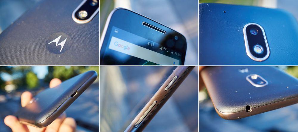 G4 Play har et ganske anonymt design. Strømknappen er teksturet, noe vi liker godt. Pynteringen rundt kameraet er også et løft.