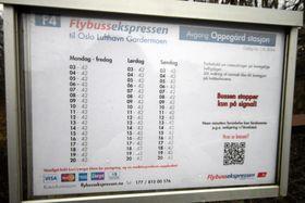 FARVEL, KJÆRE RUTETABELL: Snart må du ty til taxi, bil og tog, eller Ruters vanlige busser for å komme deg til Gardermoen.
