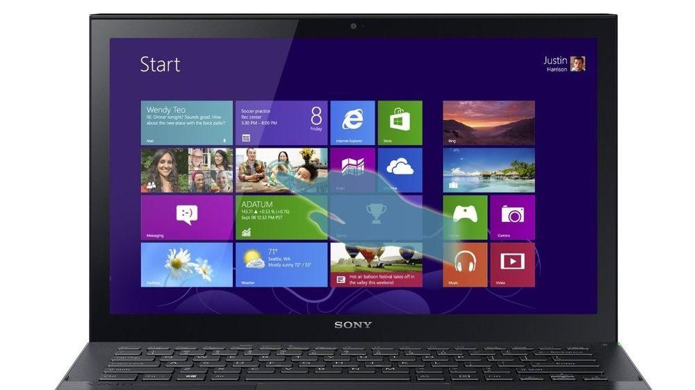 Ifølge EU-domstolen kan man ikke kreve at en gitt pc-modell selges uten forhåndsinstallert programvare. Bildet viser en av Sonys tidligere Vaio-modeller.