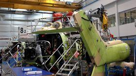 Aktiviteten på H225-fabrikken i Marignane er på et minimum for tida (bildet er fra 2013).
