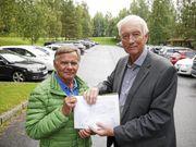 KREVER FLERE P-PLASSER: – Miljøgevinsten ved utvidelsen av innfartsparkeringen vil bli stor, sier styremedlem Kjell Bjørhei og leder for Myrvoll Vel, Jarle Jodnes.