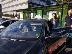 De flesteeldrosjene i Oslo er i dag Tesla.
