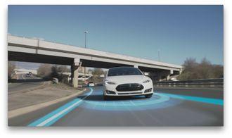 Tesla bruker radar i sitt Autopilot-system.(Foto: Tesla)