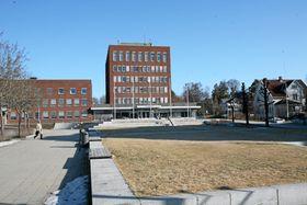 NABO-RÅDHUSET: Slik ser rådhuset i Ski ut i dag.