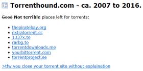 TorrentHound i dag.