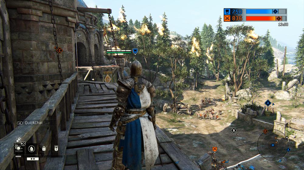 «Creeps» strømmer til punkt B, mens spillerne kjemper om punkt A og C på sidelinjen.