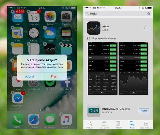 Vekk med seg, unyttige Aksje-app! Nå kan du fjerne, og eventuelt legge inn igjen, mange av de medfølgende appene på telefonen.