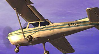 Flight Simulator X går inn for landing