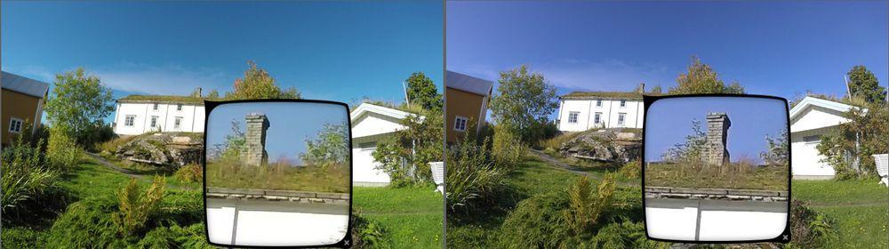 Garmin Virb Ultra 30 (til høyre) er tydelig et hakk skarpere enn GoPro Hero4 Black (til venstre) i 4K-oppløsning.