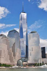 One World Trade Center i New York er blant bygningene hvor Thyssenkrupp har tatt i bruk de nye løsningene.