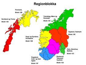 Regionblokka: NRKs behov for distriktssendinger deler opp Norge i syv som bruker frem ulike frekvenser.